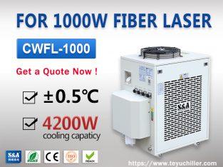 1000W Fiber Lazer için kapalı döngü su soğutucu ün