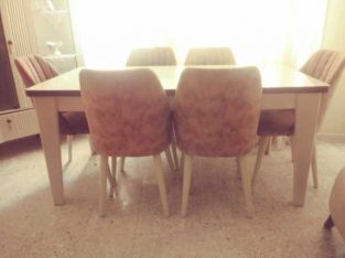 6 kişilik yemek masası