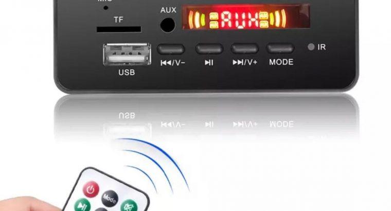 DC 12V Bluetooth 5.0 araç kiti MP3 Dekoder Kurulu Ses Modülü USB TF FM Radyo AUX MP3 Çalar