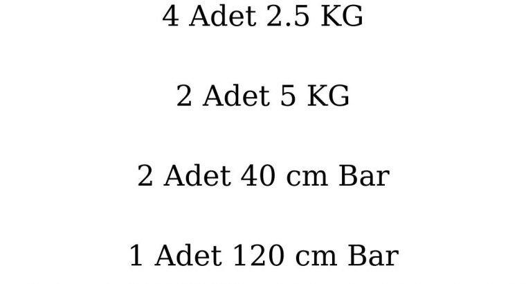 22 kg Dambıl ve Halter set